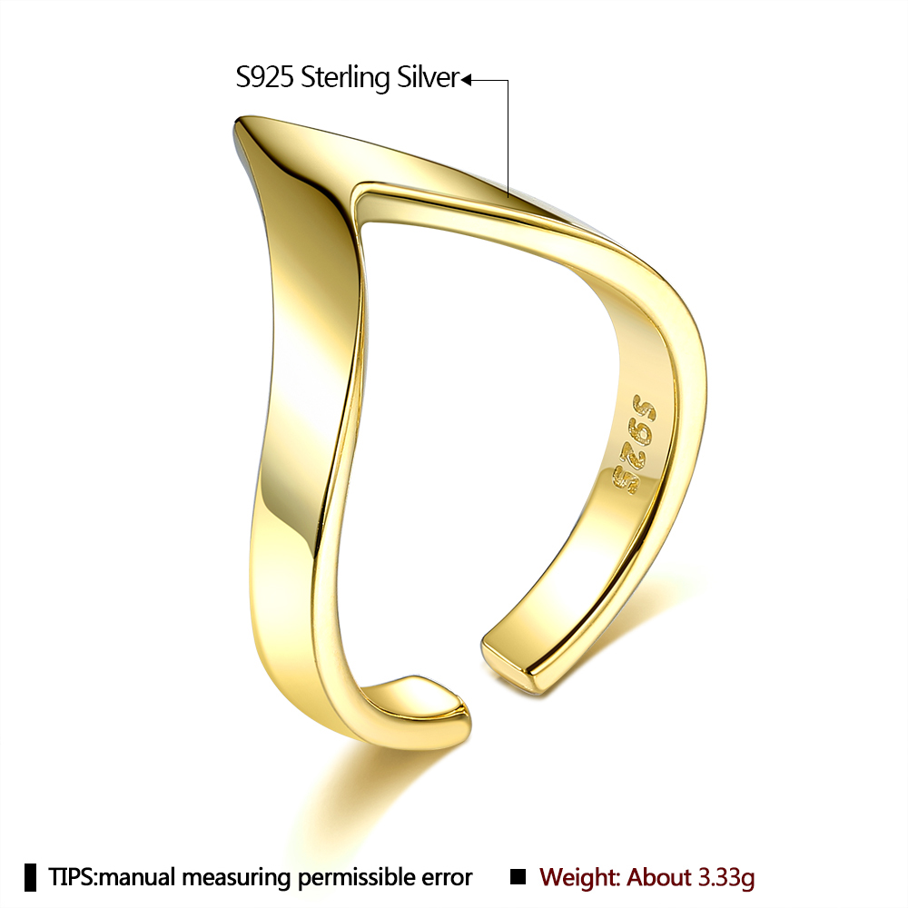 Sterling Silver 925 Jewelry Wedding Engagement Adjustable Rings For Women Hb7675cab25604c048548d20c331c3c32o