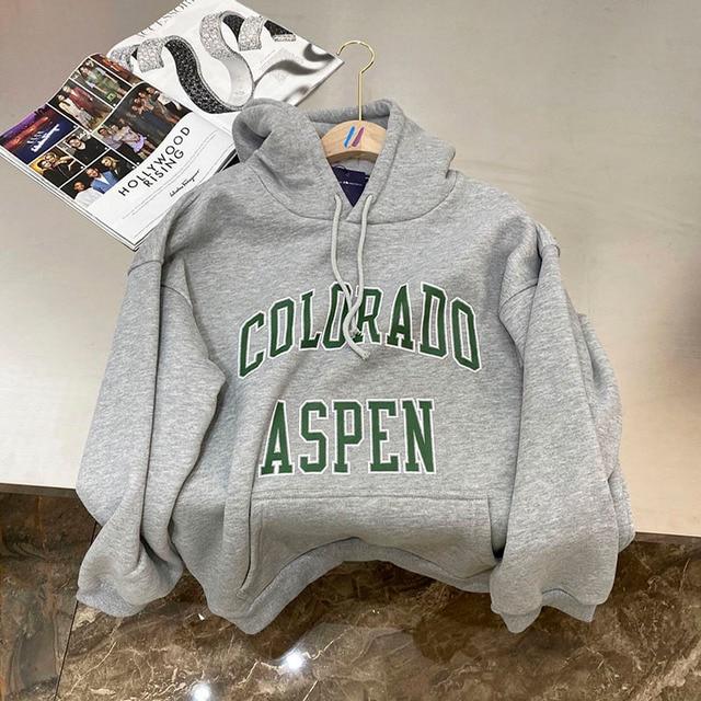 brandy Oversized hoodies 2020 Autumn winter woman sweatshirt for teens girls Fleece thick Sportswear school clothes korean style 6