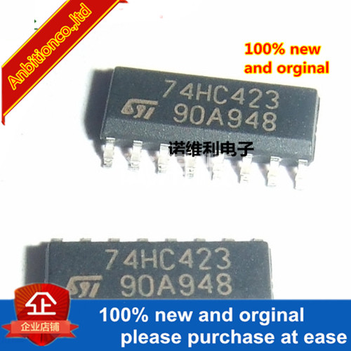 5pcs 100% New Original 74HC423 SOP16 Double Retriggerable Monostable Multivibrator And Reset In Stock