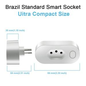 Image 3 - البرازيل القياسية مأخذ (فيشة) ذكي نوع N واي فاي المقبس 16A مع الطاقة مراقبة استهلاك الطاقة تويا الذكية الحياة العمل مع اليكسا