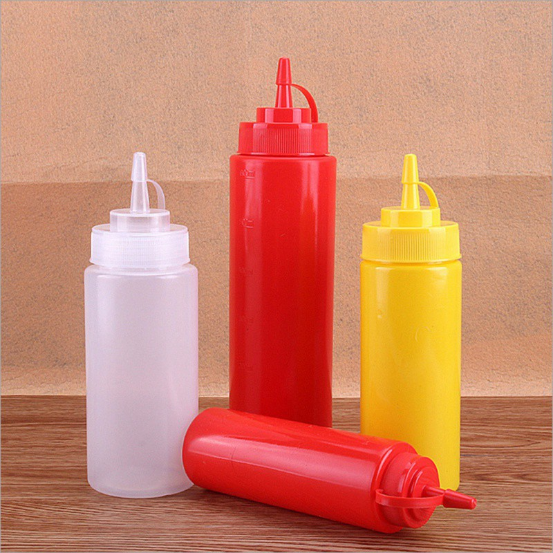 Plastic Sauce Bottle Squeeze Squirt Condiment Bottles Ketchup Mustard Mayo Hot Sauces Olive Oil Bottles Kitchen Gadget|Gravy Boats| |  - title=