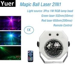 Magiczna kula światło laserowe Disco RGB projektor laserowy oświetlenie na imprezę DJ efekt oświetlenia na ślub Disco dekoracja LED Derby światła w Oświetlenie sceniczne od Lampy i oświetlenie na