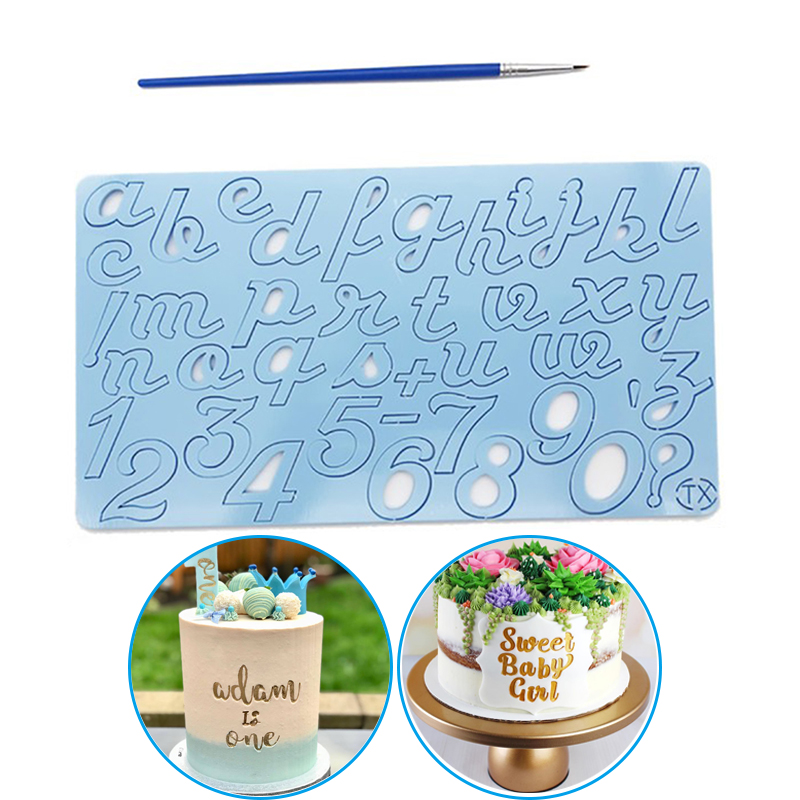 New Cake Tool Acrylic Alphabet Embossed Cutter Mold Letter Cake Cookie Cutter Stamp Fondant Cake Decorating Tools