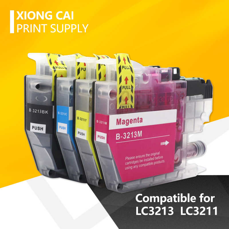 2020 Kompatibel Ink Cartridge LC3211 LC3213 untuk Brother DCP-J772DW DCP-J774DW MFC-J890DW MFC-J895DW Injet Printer Gratis Pengiriman