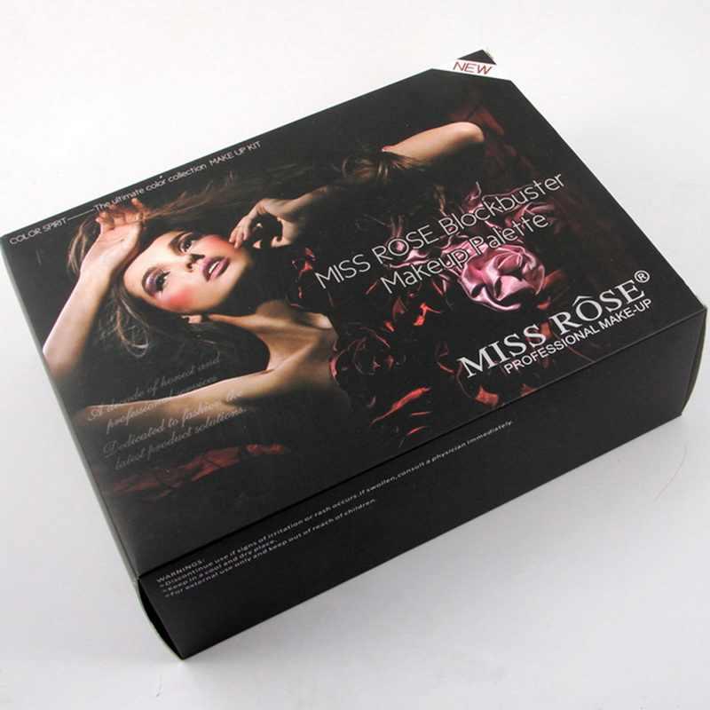 מיס רוז פסנתר 180 צבעים איפור סט מט פלטת צלליות הבלחה צלליות פיגמנט עם מברשת מראה בתיבה