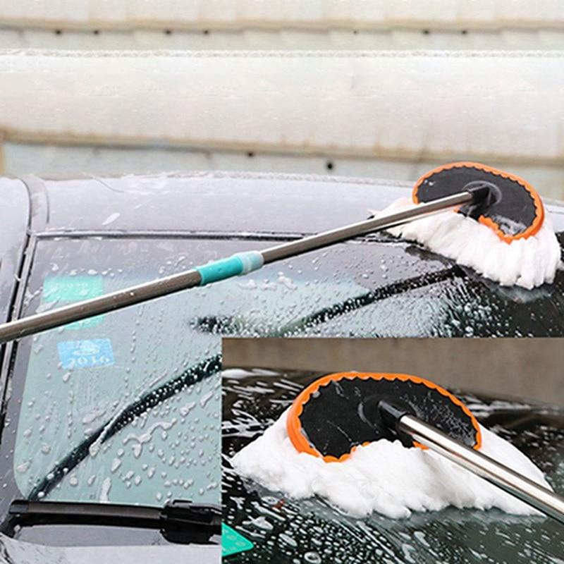 Автомобильный регулируемый телескопический вытирая из мягкого молочного шелка Чистящая тряпка для мытья кисти инструмента