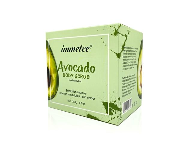 Avocado Scrub Body Shea Butter Cream Facial Dead Sea Salt For Exfoliating Whitening Moisturizing Anti Cellulite Treatment Acne 5