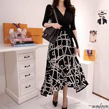 Платье женское цельнокроеное в Корейском стиле офисное приталенное