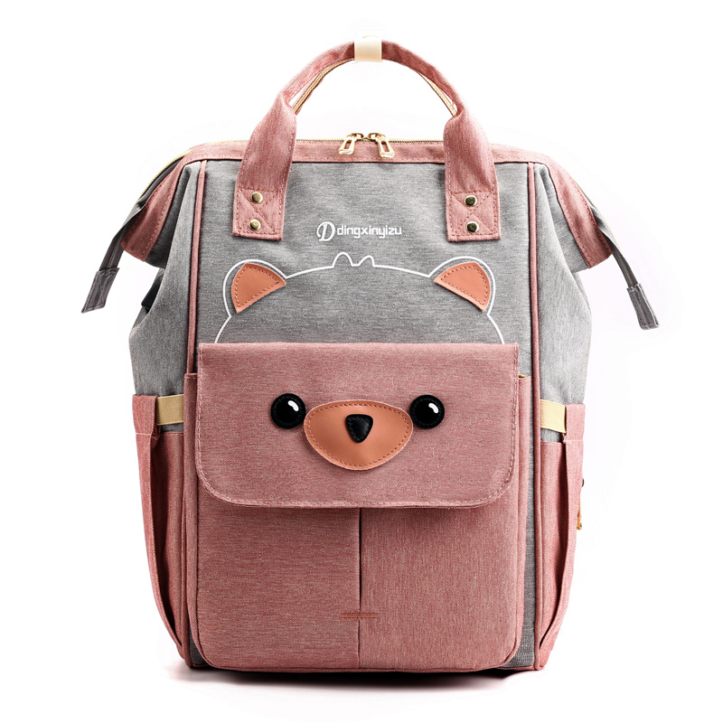 Baby Diaper Bags Mummy Backpack Maternity Nappy Bag Cartoon Printing  Travel Baby Nursing Waterproof With USB BSL006