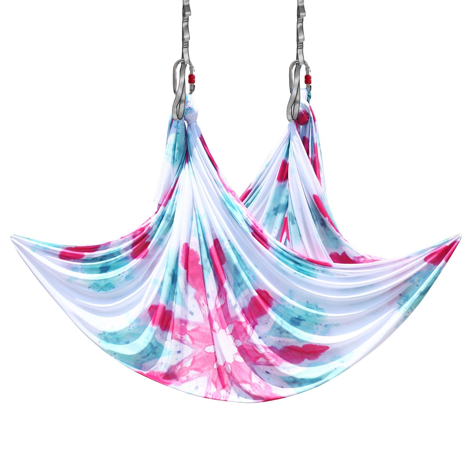 Permalink to PRIOR FITNESS 5 Meter Aerial Yoga Hammock Faric High Quality  Aerial Silks Low Stretch Anti Gravity Yoga Equipment
