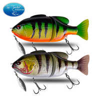 CF Lure 120mm 50g 140mm 70g Topwater Tilapia Floating Jointed Bait with Spinner Swimbaits Bass Fishing Lure