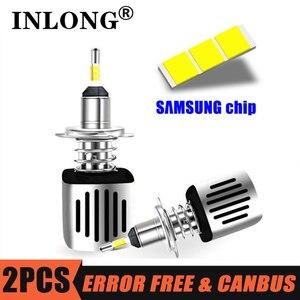 Image 1 - INLONG Mit SAMSUNG Chips H1 Led Scheinwerfer Lampen H4 H7 LED H11 H8 9006 HB4 9005 Hb3 16000LM 5500K 6500K Scheinwerfer Auto Nebel Lichter