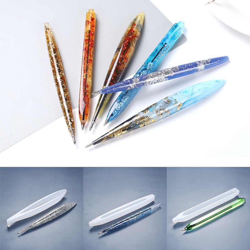 UV Epoxy Resin Mould Ballpoint Pen Mold Silicone Molds Jewelry Making Tool O7B1