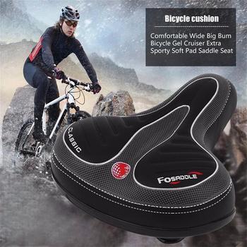 Rowerowe siodełko rowerowe Big Bum szerokie siodełko Road MTB rower górski szeroka miękka podkładka wygodna poduszka rowerowa części rowerowe nowość f3 tanie i dobre opinie YaFee CN (pochodzenie) Przednim siedzeniu maty Other 250x210x105mm Rowery górskie Bicycle Saddle Imitation Leather Soft waterproof breathable