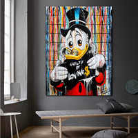 Modern Graffiti Street Art Cartoon Posters And Prints Canvas Painting Wall Pictures For Living Room Kid's Bedroom Cuadros Decor