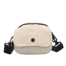 New girl foreign style wild student mobile phone bag simple canvas shoulder messenger bag net red bag blood kitchen knife style canvas zipper messenger bag white red