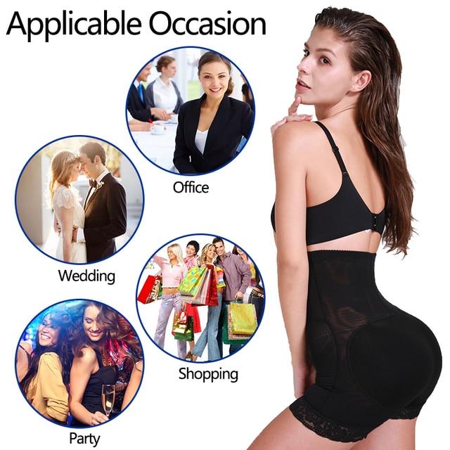 VASLANDA Butt Hip Enhancer Padded Shaper Tummy Control Panties Underwear Booty Lifter Briefs Shapewear Safety Shorts Under Skirt 6
