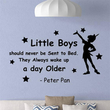 Disney Quote wall decal little boy vinyl sticker child decorative mural Art Decor Home Removable Wall Sticker