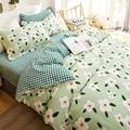 OXYGEN Cotton Bedding Set Flowers Printed Twin Queen King Size Duvet Cover Bed Linen Home Textiles 4PCS Flat Sheet Pillowcase