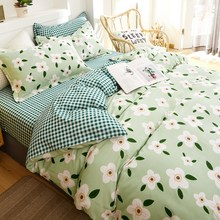OXYGEN Cotton Bedding Set Flowers Printed Twin Queen King Size Duvet Cover Bed Linen Home Textiles 4PCS Flat Sheet Pillowcase