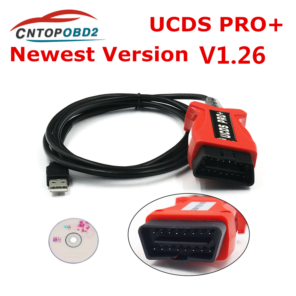 UCDS Pro+ FOCOM  Diagnostic Cable For Ford UCDSYS With UCDS Pro+ V1.26.001 With 35 Tokens Full License UCDS Pro Full Activate