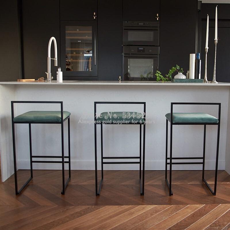 21%Nordic Bar Stools Fashion Modern Minimalist Bar High Bar Stool Home Personality Bar Chair Creative Designer Chair