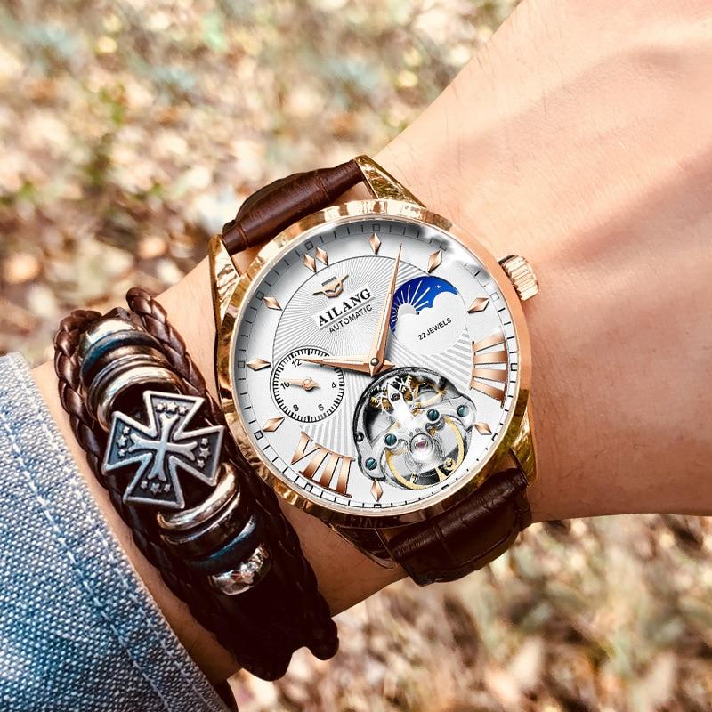 Luxus Mechanische Getriebe Uhr Männer geschenk Japan Bewegung Automatische schwarz selbst wickler Sapphire Uhr Marke Männer Metall Lünette - 3