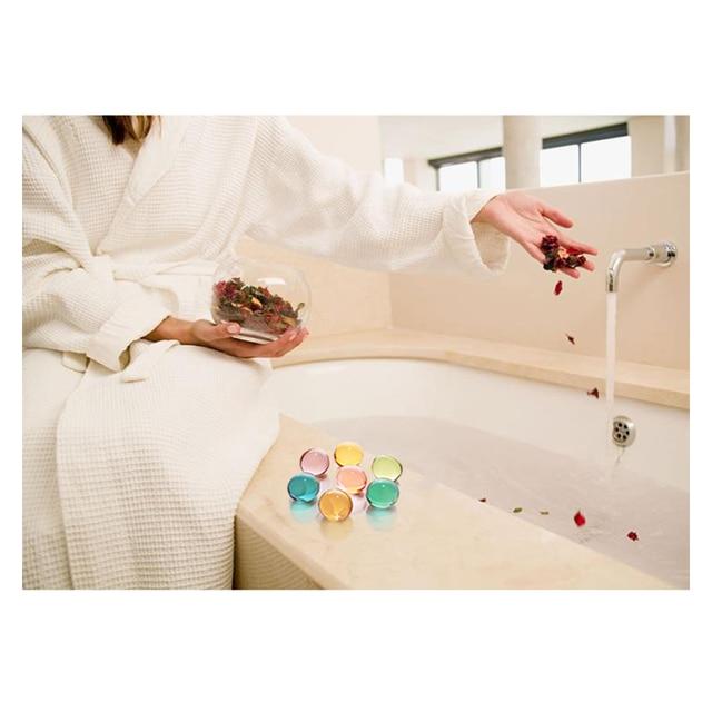 Jasmine flavor Bath Oils SPA Massage Essential Oil beads pearl flower aroma bath Oils heart-shaped 4.2g 1
