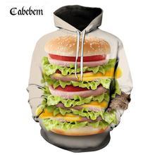 Горячая Распродажа взрывов Горячая гамбургер king Для мужчин толстовки модная одежда для пребывания на открытом воздухе аниме изысканные пуловер с капюшоном на каждый день Для мужчин толстовки