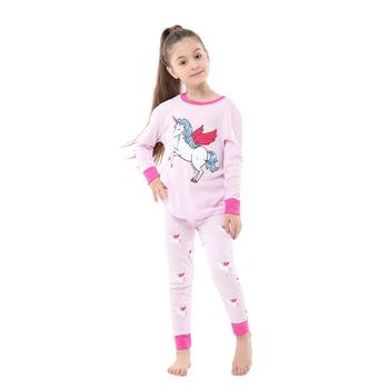 100 Cotton Boys and Girls Long Sleeve Pajamas Sets Children's Sleepwear Kids Christmas Pijamas Infantil Homewear Nightwear - PA15, 5