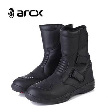 ARCX Motorcycle boots Genuine Cow Leather waterproof boots L54947