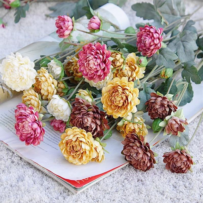 Греция rudbeckia, ветка хризантемы, шелковые искусственные цветы, Осеннее украшение, цветы, Свадебный декор, реквизит для студийной фотосъемки