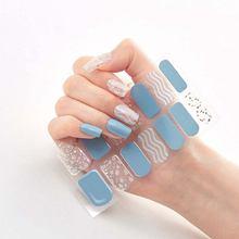 4 вида наклеек для ногтей с полным покрытием Стикеры дизайнерские