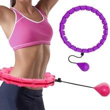 Cerceaux de Sport réglables de 24 sections, cerceaux de Fitness détachables pour Massage, perte de poids