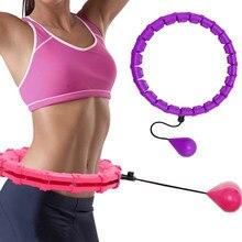 24 seção ajustável esporte aros abdominal cintura fina exercício destacável hula massagem fitness hoop treinamento perda de peso