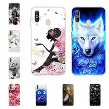 For Samsung Galaxy A60 Case Soft TPU Silicone SM-A606F Cover Cat Patterned Coque