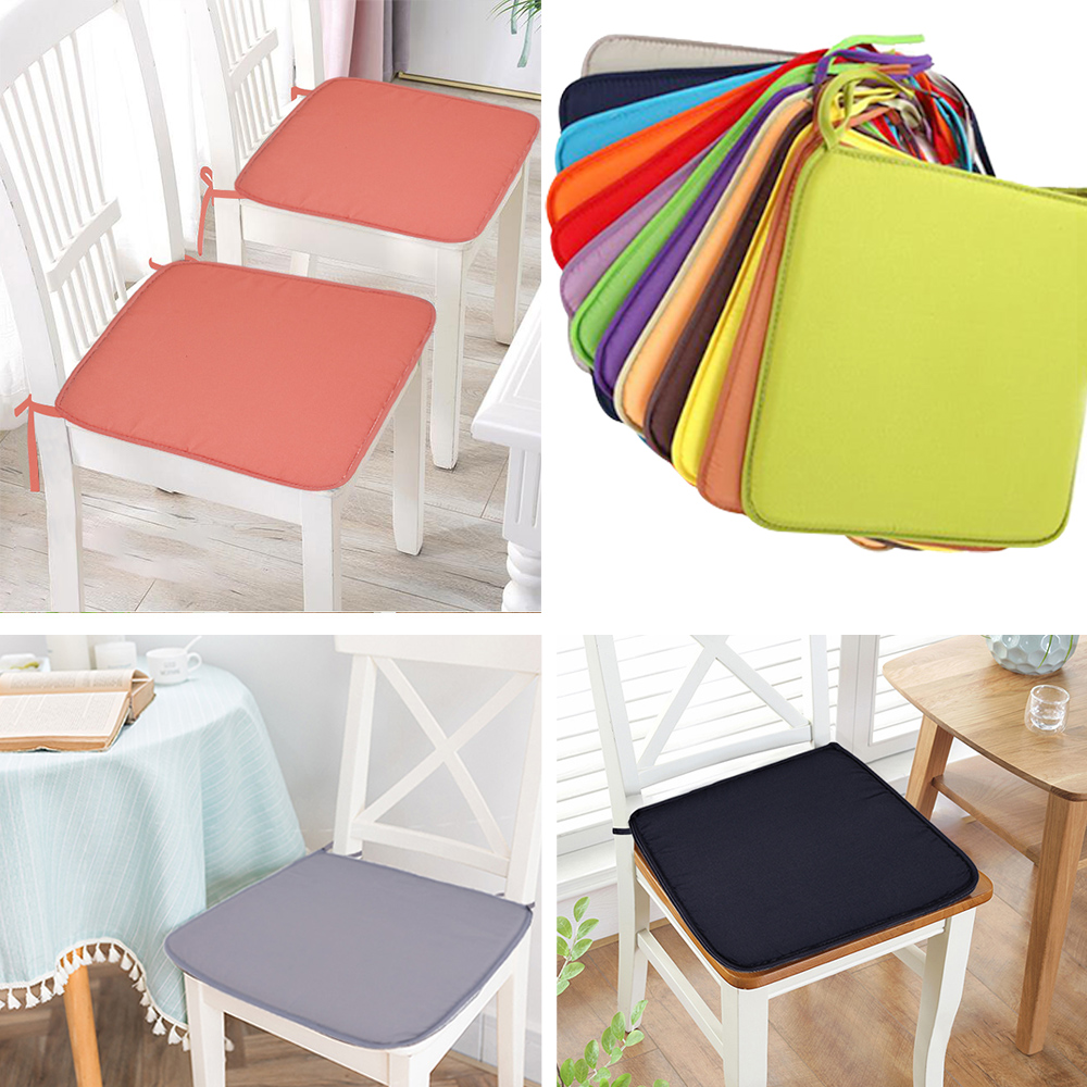 37X37cm Chair Pad Cushions Seat For Home Office Dinning Chair Solid Color Indoor Outdoor Seat Chair Pad Home Decor-in Cushion from Home & Garden