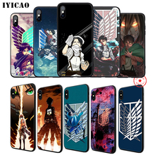 IYICAO Attack  on Titan cool Soft Phone Case for iPhone 11 Pro XR X XS Max 6 6S 7 8 Plus 5 5S SE Silicone TPU 7 Plus iyicao airplane red space soft phone case for iphone 11 pro xr x xs max 6 6s 7 8 plus 5 5s se silicone tpu 7 plus