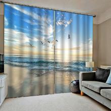Blue lake sky curtains 3d curtains new window balcony thickened windshield blackout curtains брюки sky lake sky lake mp002xb0079t