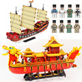New Sets 1892Pcs XINGBAO Building Blocks XB 25001 Cantonese Galleon Sailboat Children Toys Bricks Christmas Gift 4Px To DE|Blocks| |  -