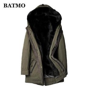 Куртка с капюшоном Batmo для мужчин, теплая зимняя куртка с капюшоном из 2019 натурального волка, 100%