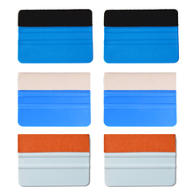 EHDIS 6pcs In Fibra di Carbonio della Pellicola Del Vinile Raschietto Auto Finestra Tinte di Acqua di Vetro Tergicristallo Foglio di Imballaggio Tessuto Feltro Seccatoio Installare strumenti