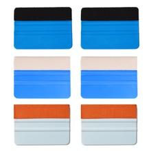 Ehdis 6 Stuks Carbon Fiber Vinyl Film Schraper Auto Window Tinten Glas Water Wisser Folie Wikkelen Stof Viltje Installeren gereedschap