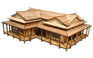 DIY игрушки, планшеты Geisha House, миниатюрная деревянная сцена, модель с соотношением 28 мм 1:56, для японских военных режимов, размер 31*26*12 см