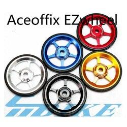 Aceoffix 1 Paar Super Lichtgewicht Easywheel Voor Brompton Zwart/Zilver/Goud Met Titanium Vlekken