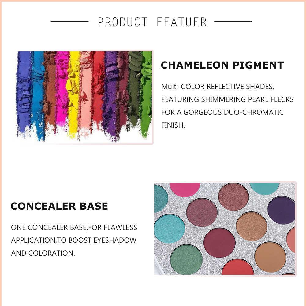 SCHÖNHEIT GLASIERTE 63 Farben Lidschatten Pallete Lange Anhaltende Matte Schimmer Glitter Pigment Einfach zu Tragen Augen Make-Up Charming Palette