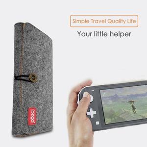 Image 3 - Voor Ns Lite Opbergtas Beschermende Vilt Doek Draagtas Met Game Card Slot Voor Nintendo Schakelaar Lite Game Console