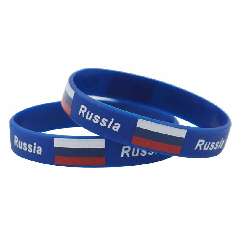 2pc Fashion Nationale Vlag Siliconen Armbanden Polsband Print Sport ID Mannen Rubber Wrist Band Outdoor Accessoires Ventilator Levert