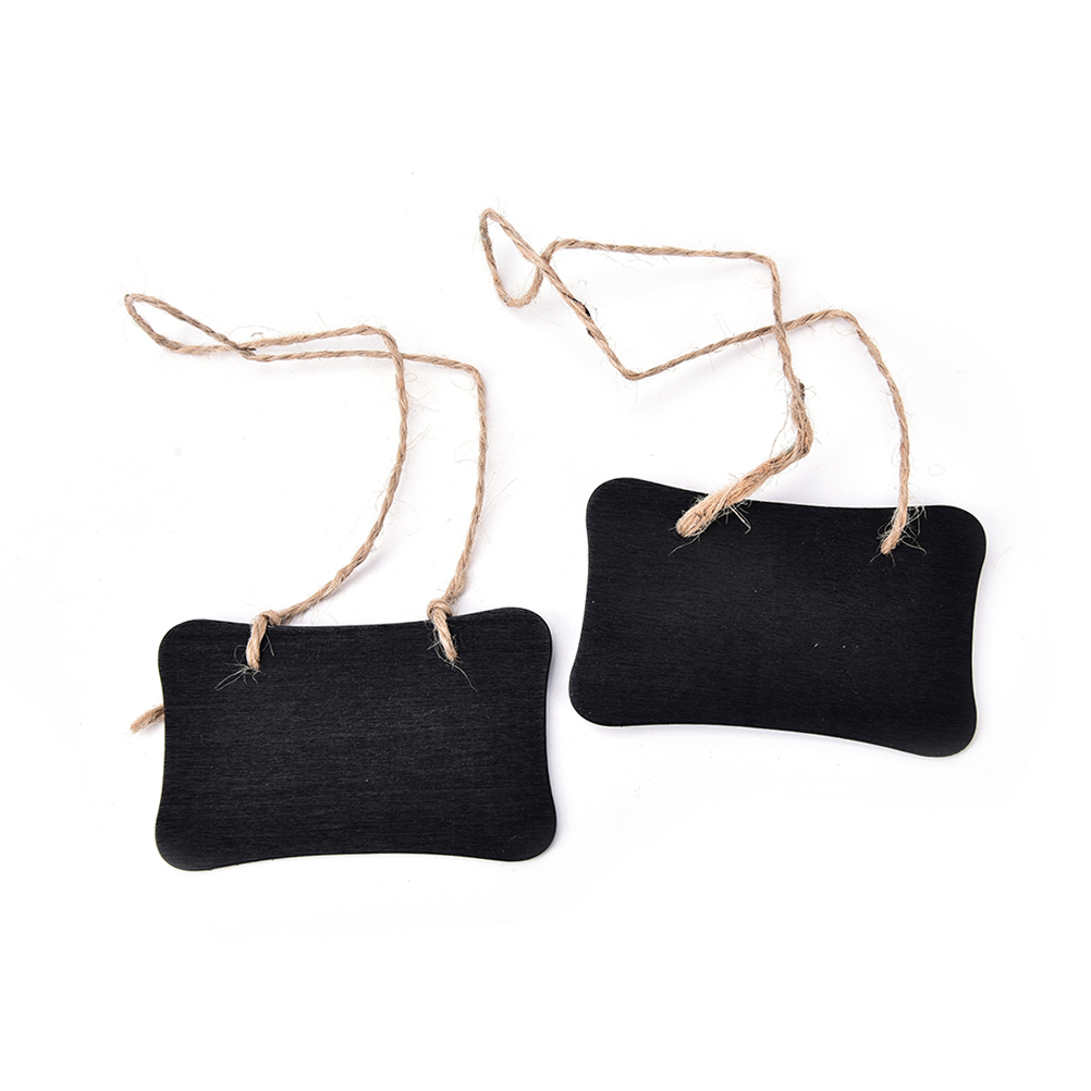 2Pcs x Wooden chalkboard with hang string Mini Blackboard Chalkboard Pegs Clips Message Boards Stands Wedding Party Decoration