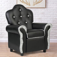 Costway Children Recliner Kids Sofa Chair Couch Living Room Furniture Black